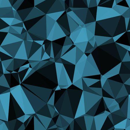 Random seamless blue triangle pattern tile mess 向量圖像