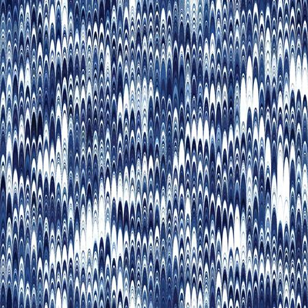 Indigo combed hand marbled texture pattern tile 向量圖像