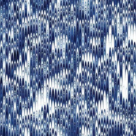 Indigo combed hand marbled texture pattern tile Illusztráció