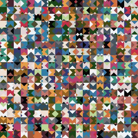 Tribal ethnic colorful geo square triangle pattern Banque d'images - 136112196