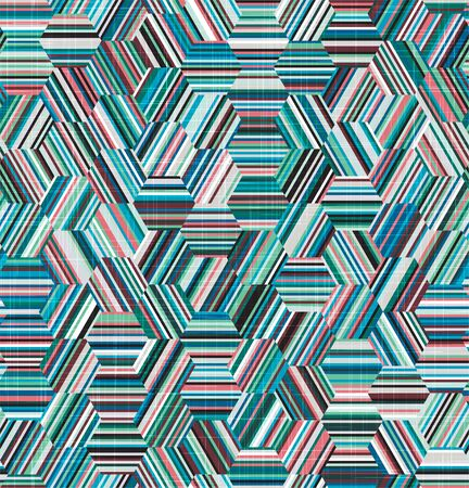 Teal cyan parquet tiling geo graphic texture motif