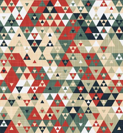 Grungy geo funky triangle graphic motif swatch