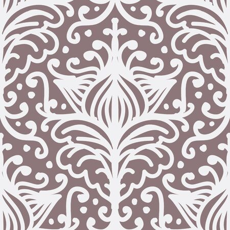 Damask Filigree Flourish Curl Shabby Chic Pattern Ilustrace
