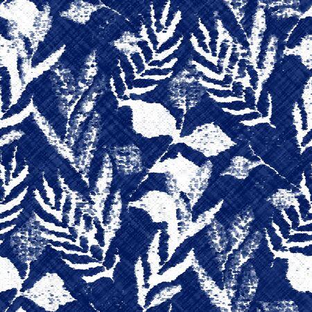 Indigo cyanotype dyed effect worn navy pattern Vetores