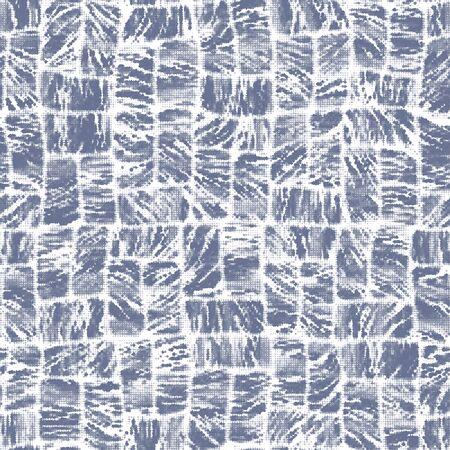 Indigo cyanotype dyed effect worn navy pattern
