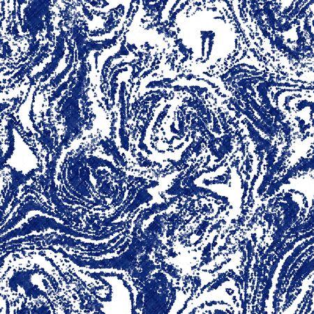 Indigo cyanotype dyed effect worn navy pattern Vector Illustratie