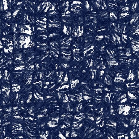 Indigo cyanotype dyed effect worn navy pattern Vector Illustration