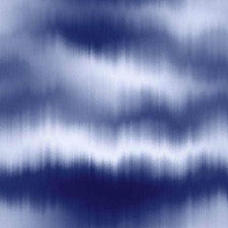 Soft blurry ikat gradient ombre seamless indigo 向量圖像