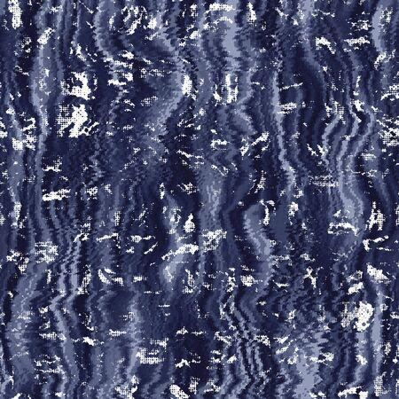 Indigo cyanotype geverfd effect gedragen marine patroon