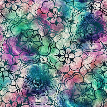 Watercolor wash ink bleed fabric texture swatch