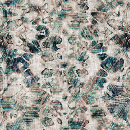 Mixed media collage aged seamless pattern swatch
