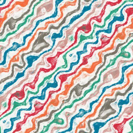 Wavy rainbow painting stripe mottled seamless tile
