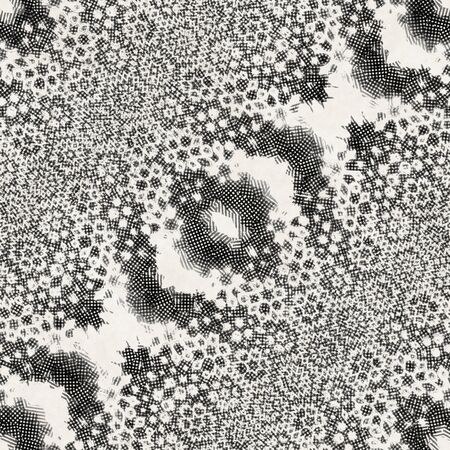 Intricate ornate hand drawn noisy mottled motif Imagens