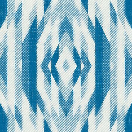 Blue pen ink crosshatch seamless pattern design