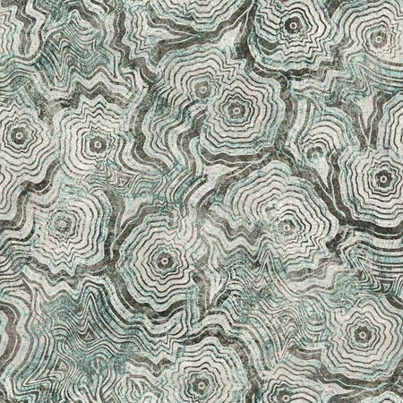 Tan and teal worn messy grungy seamless pattern Foto de archivo