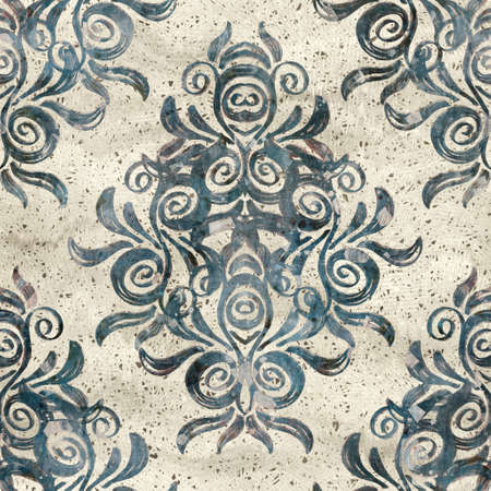 Chic formal grungy damask texture seamless pattern