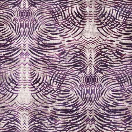 Luxury purple and tan damask seamless pattern