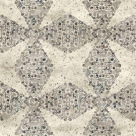 Chic formal grungy geo texture seamless pattern Reklamní fotografie