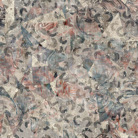 Chic formal grungy geo texture seamless pattern