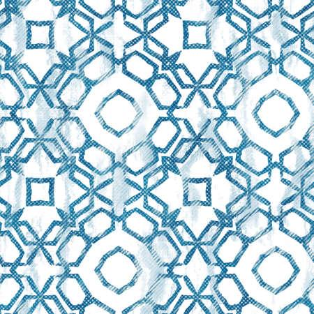 Seamless blue ink pen crosshatch blueprint pattern