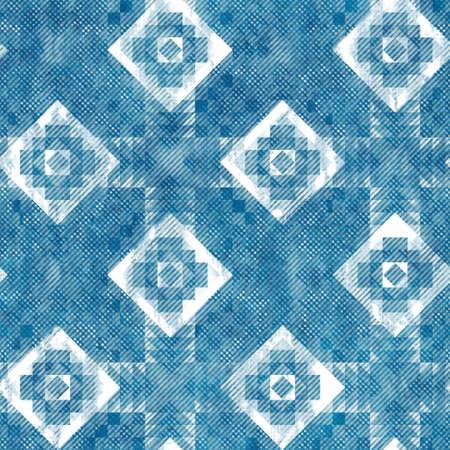 Seamless blue ink pen crosshatch blueprint pattern Imagens
