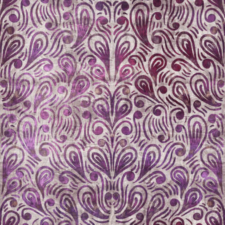Luxury purple and tan damask seamless pattern