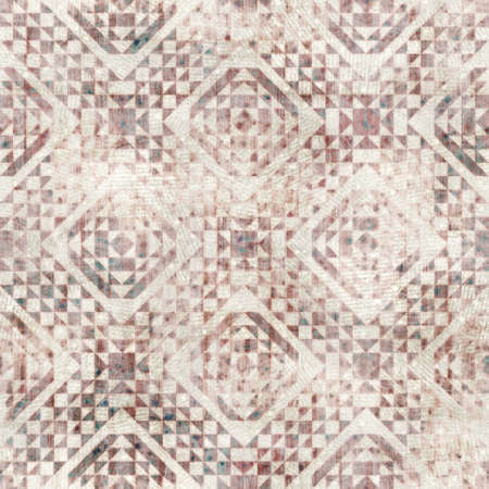 Seamless old aged tapestry rug kilim pattern Stock Photo