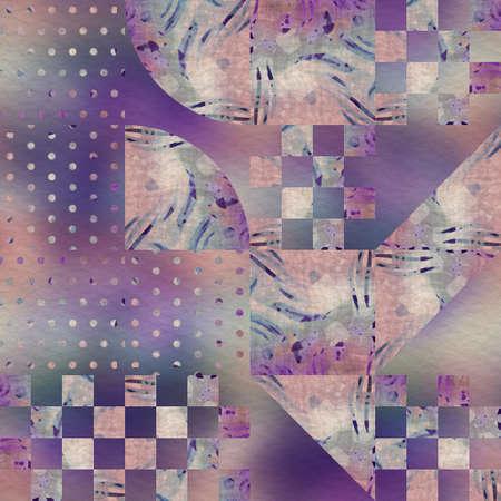 Hip random geo pattern on blurry background 免版税图像