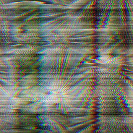 Seamless techno glitch tropical RGB computer noise