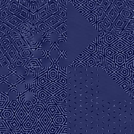 Hip random geo pattern on blurry background