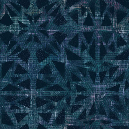 Lux navy and white iridescent geo seamless pattern