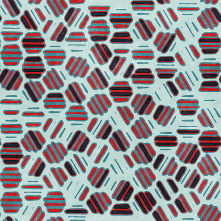 Red and navy textured urban seamless pattern Imagens