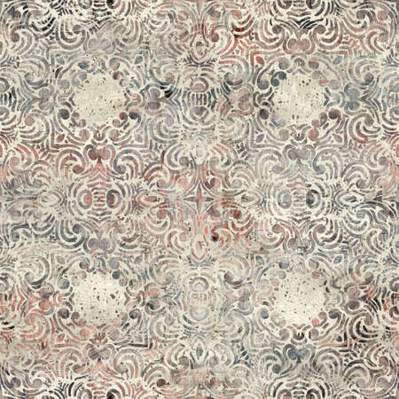 Chic formal grungy damask texture seamless pattern 版權商用圖片