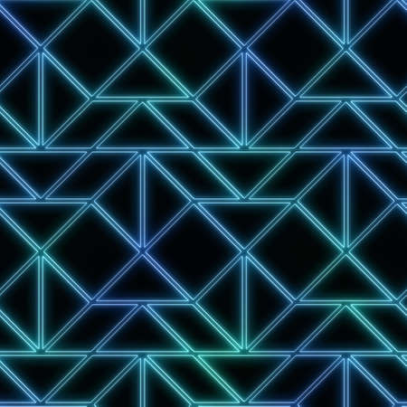 Neon light on black seamless repeat pattern