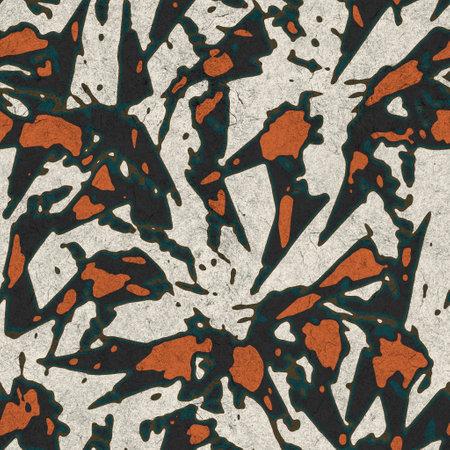 Seamless funky grungy pattern motif for print Standard-Bild