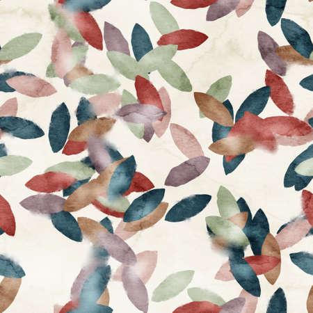Seamless watercolor leaves trendy chic pattern for surface print. 版權商用圖片