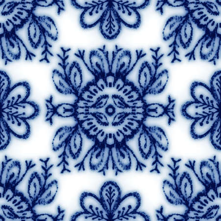 Seamless classic blue and white ceramic design