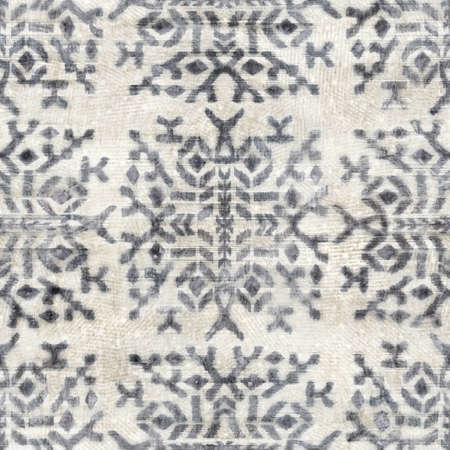 Seamless grungy tribal ethnic rug motif pattern. 版權商用圖片