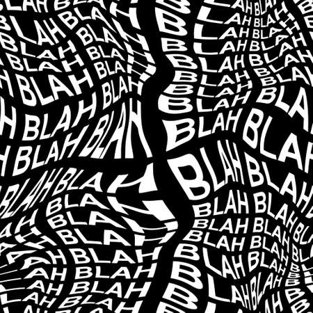 BLAH word warped, distorted, repeated, and arranged into seamless pattern background 版權商用圖片