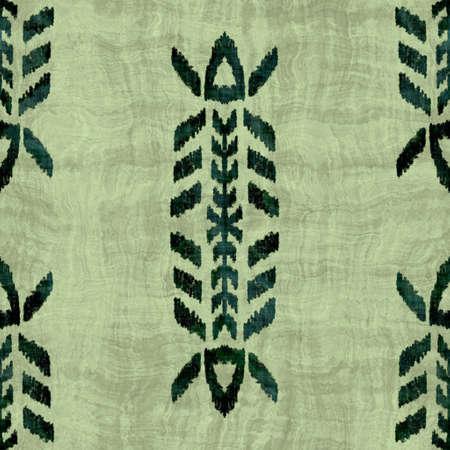 Seamless grungy tribal ethnic rug motif pattern. Stockfoto