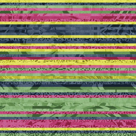 Seamless hip vogue random trendy stripe pattern print Banque d'images