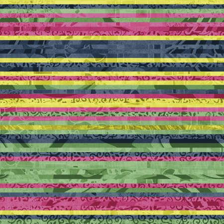 Seamless hip vogue random trendy stripe pattern print Imagens