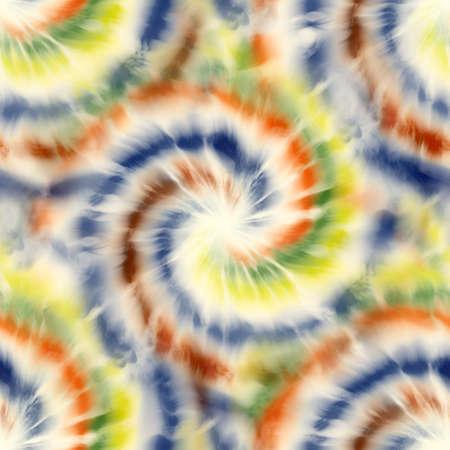 Seamless spiral tie dye pattern for surface design print