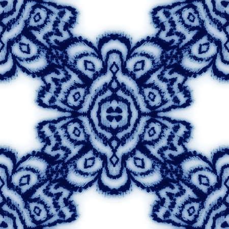 Seamless classic blue and white ceramic design