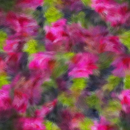 Seamless faux digital painted floral pattern print 版權商用圖片