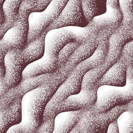 Seamless noise splatter pointillism wavy pattern swatch 版權商用圖片