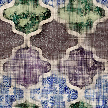 Seamless Moroccan inspired highly textured pattern for surface print