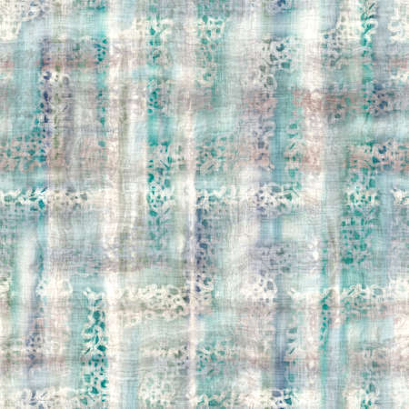 Seamless pastel batik pattern swatch for print with abstract hand drawn motifs