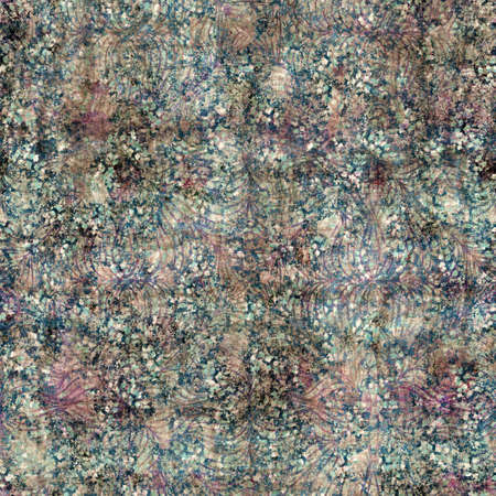 Seamless elegant mixed media pattern in navy, blue, pink, and cream