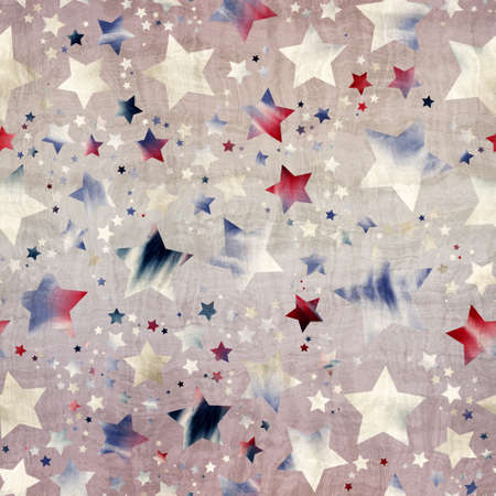 Seamless pattern of star motif in intricate colors and texture Standard-Bild